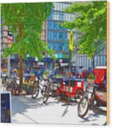 Pedal Taxis 1 Wood Print