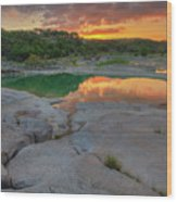 Pedernales River Sunrise, Texas Hill Country 8257 Wood Print
