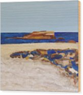 Pedersen Beach Lake Superior Wood Print