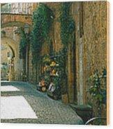 Pedestrian Walkway, Orvieto, Umbria Wood Print