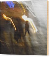 Pedestrians 4  6th Ave Series  Abstract Wood Print