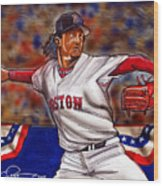 Pedro Martinez Wood Print by Dave Olsen