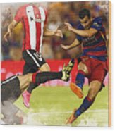 Pedro Rodriguez Kicks The Ball  Wood Print