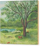 Pedro's Tree Wood Print