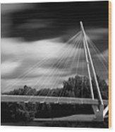 Pedestrian Bridge Wood Print