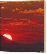Peek-a-boo Sun Wood Print