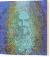 Peeking Thru Maya 2 In Blue Wood Print