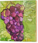 Peel Me A Grape Wood Print