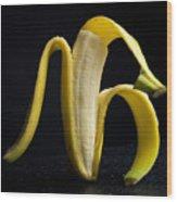 Peeled Banana. Wood Print
