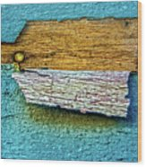 Peeling Paint Bird Wood Print