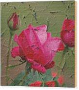 Peeling Rose Wood Print