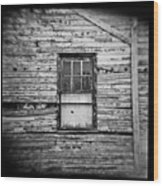 Peeling Wall And Cool Window At Fort Delaware On Film Wood Print