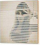 Peeping Alex Wood Print