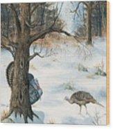 Peeping Tom Wood Print
