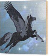 Pegasus Flight Wood Print
