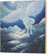 Pegasus Wood Print by Heather Calderon