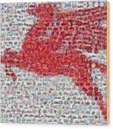 Pegasus Mosaic Wood Print