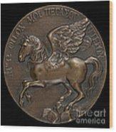 Pegasus Soaring Above Parnassus [reverse] Wood Print