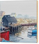 Peggy's Cove Harbour Wood Print