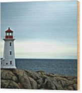 Peggy's Cove Lighthouse - Photographers Collection Wood Print