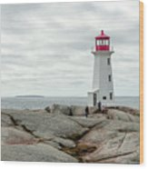Peggys Cove Lighthouse 2 Wood Print