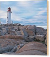 Peggy's Cove Lighthouse Wood Print