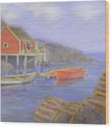 Peggy's Cove Lobster Pots Wood Print