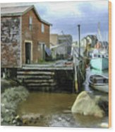 Peggys Cove Ns 001 Wood Print