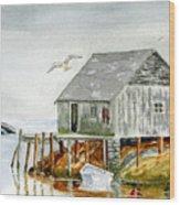 Peggys Cove Wood Print