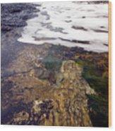 Peggy's Cove Surf Splash Wood Print