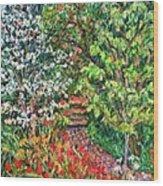 Peggys Garden Wood Print
