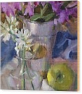 Peggy's Orchids Wood Print