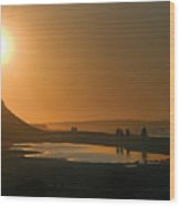 Pei Cavendish Beach Sunset Wood Print