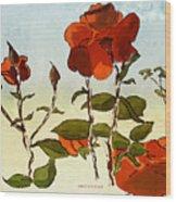 Peka Peka Roses Wood Print