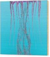Pelagia Noctiluca Jellyfish Wood Print