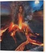 Pele - Volcano Goddess Wood Print