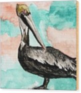 Pelican 3 Wood Print