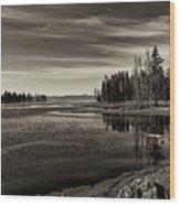Pelican Bay Morning - Yellowstone Wood Print