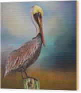 Pelican Blues Wood Print