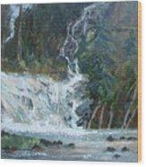 Pelican Falls Wood Print