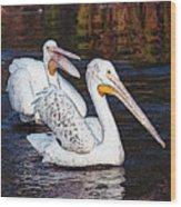 Pelican Love Wood Print