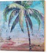 Pelican Palm II Wood Print