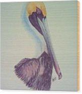 Pelican Prince Wood Print