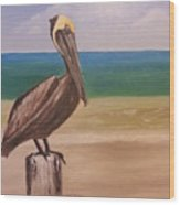 Pelican Rest Stop Wood Print