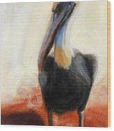 Pelican Study Wood Print