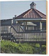Pelican Weathervane Ocean Isle Norht Carolina Wood Print