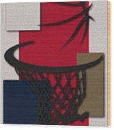 Pelicans Hoop Wood Print