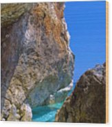 Pelion Rocks Wood Print by Neil Buchan-Grant