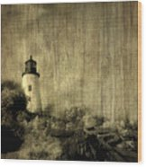 Pemaquid Point Wood Print by Christine Hauber