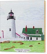 Pemaquid Point Lighthouse Wood Print by Frederic Kohli